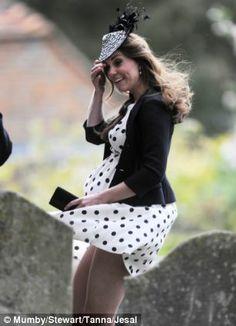 Thigh high: Fashion pfaux pas at a wedding last year...