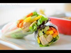 Fresh Spring Rolls Recipe (How to Make Rice Paper Spring Rolls)