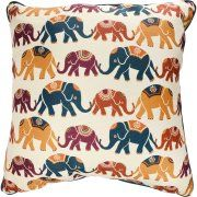 Mainstays Elephant Decorative Throw Pillow, Multi Color, 18 x 18 Elephant Throw Pillow, Pillow Texture, Gold Pillows, Decorative Throw Pillows, Color Blocking, Pillow Covers, Tapestry, Walmart, Prints
