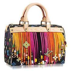 Louis Vuitton Fringed Speedy Handbag