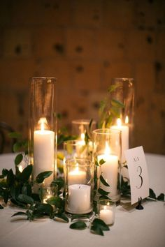 This Candlelit Reception Will Stop You Dead in Your Tracks – Style Me Pretty #weddingcandlesdesign