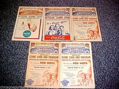 World War II era Chicago White Sox Score Card Lot of (5): 1941, 1942, 1944, 1945 #ChicagoWhiteSox
