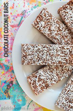 Chocolate Coconut Bars - easy to make, wheat-free, nut-free and refined sugar-free and really really yum!