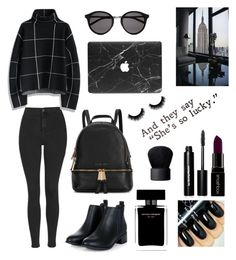 """""""Lucky Girl"""" by tajda-ilar ❤ liked on Polyvore featuring Topshop, Chicwish, Michael Kors, Yves Saint Laurent, Smashbox, Narciso Rodriguez, Bobbi Brown Cosmetics and NARS Cosmetics"""