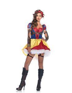 Rebel Snow White Adult Womens Costume - 346882   trendyhalloween.com #snowwhitecostumes #womenscostumes #disneycostumes