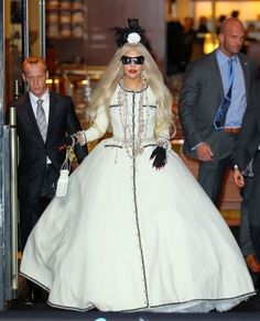 This dress was designed exclusively for Gaga by Christian Lacroix