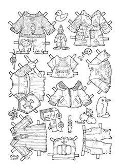 Mads Paper Doll to Colour. Mads påklædningsdukke til at farvelægge. Free Adult Coloring Pages, Coloring Pages To Print, Coloring Books, Paper Toys, Paper Crafts, Paper Doll House, Latch Hook Rugs, Paper Dolls Printable, Vintage Paper Dolls