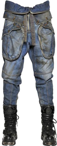 Designer Clothes, Shoes & Bags for Women Blue Ripped Jeans, Torn Jeans, Denim Jeans, Folding Jeans, Polka Dot Jeans, Cargo Jeans, Weird Fashion, Button Fly Jeans, Destroyed Jeans
