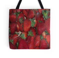 Freshly Picked #Strawberries All Over Print #Tote #Bag