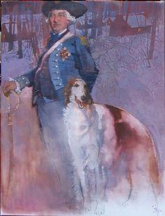 Bernie Fuchs (1932 - 2009), Baron Von Steuben 2006, oil on linen