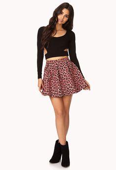 Spot-On Leopard Pleated Skirt | FOREVER21 - 2000140250
