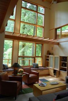 window seats, interesting overhang