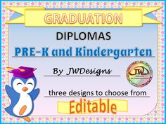 Preschool Diploma | School | Pinterest