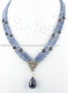 Source Tanzanite Gemstone Beaded Necklce Guragaon Delhi on m.alibaba.com