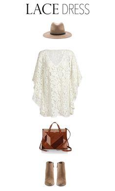 """""""Lace and Go"""" by saraishi ❤ liked on Polyvore featuring moda, Rebecca Minkoff, rag & bone, Dolce Vita, StreetStyle, lacedress i StreetChic"""