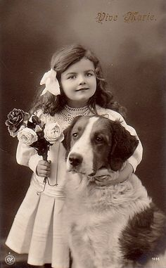 Beautiful Photograph ~ A little girl with her loving dog