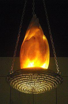 EDELSTEIN EDELSTEINE :: Ner Tamid (Eternal Flame) for Congregation Etz Hayim in Arlington, VA