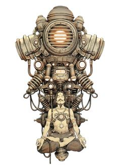 Dieselpunk art by Tatsuyuki Tanaka. Norman Rockwell, Character Design References, Character Art, Character Personality, Character Concept, Chris Riddell, Arte Cyberpunk, Cyberpunk 2077, Steampunk