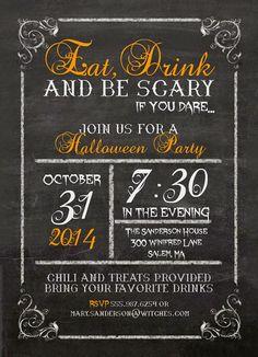 Invitation adult party halloween