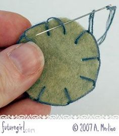 Tips for hand sewing felt