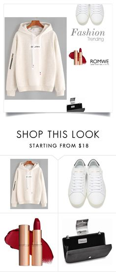 """""""Romwe"""" by malo-lama ❤ liked on Polyvore featuring Yves Saint Laurent"""