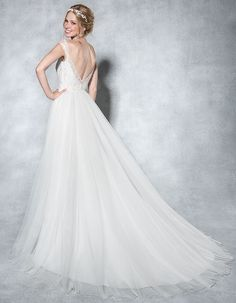 The beautiful 'Aria' by Viva Bride ✨ We love this soft Tulle and beaded lace wedding dress ✨ Could this be 'the one' for you ✨ www.wed2b.co.uk