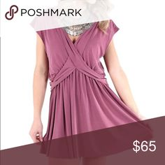 🎉HP🎉 Free People Criss Cross dress Size M in the color Mulberry. NWT. MSRP $128. description coming soon Free People Dresses