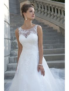 Bridal Gown, Sheer Top and Back, Ball Gown, Lace and Tulle Available For Reorder