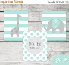 Nursery Design Ideas & Inspiration- Aqua & Gray Shop for Aqua and Gray Nursery Pieces