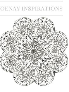 Adult Coloring Book, Printable Coloring Pages, Coloring Pages, Coloring Book for Adults, Instant Download, Magnificent Mandalas 1 page 9