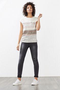 Esprit / Slub jersey T-shirt in 100% cotton