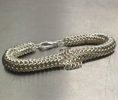 Inside Outside Chainmaille Bracelet Kit in Non Tarnish Silver Plate by UnkamenSupplies, $35.00