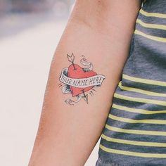 Tattly™ Designy Temporary Tattoos. — Heart with No Name by James ...