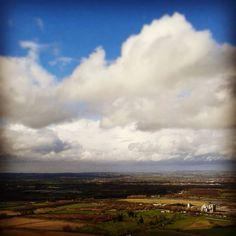 """Jennie Stoddart (@jenniekstoddart) on Instagram: """"View from Bratton Camp this afternoon #westbury #inspiration #clouds #bigsky #landscape…"""""""