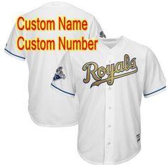 8386823f9 Eric Hosmer Kansas City Royals Majestic 2015 World Series Champions Gold  Program Cool Base Player Jersey - White