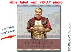 Happy Birthday Male Wine ~ Personalized birthday champagne bottle labels is great for any