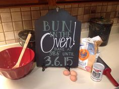 clever way to announce, our friend had this posted on her Facebook from her daughter.