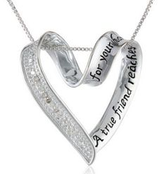 True Friend Diamond necklace gifts for women - love this beautiful jewelry gift (so will your girlfriend!)