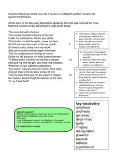 macbeth language grade d for this paper! Macbeth play assignment the witches, resurrecting macduffs family, for mourners at a funeral, after the death of macduff's family act vi scene i lady macduff and son's funeral.