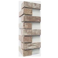Old Mill Brick Brickwebb Little Cottonwood Thin Brick Sheets - Corners (Box of 3 Sheets) 21 in x 15 in linear - The Home Depot Z Brick, Brick Face, Brick Tiles, Brick Steps, Thin Brick Veneer, Castle Gate, Build A Fireplace, Concrete Bricks, Manufactured Stone