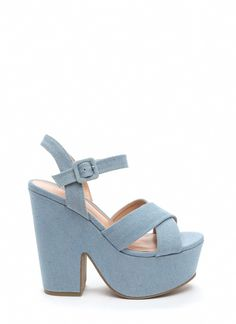 5fccdb55fae These denim chunky heels will not only give you height