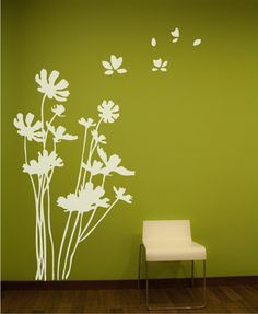 Flowers Wall Decal. Wall Sticker $78.00