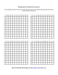 math worksheet : 5 minute math multiplication worksheet  math worksheets for 4th  : One Minute Math Worksheets