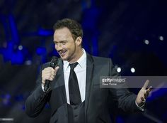 Russell Watson performs on stage at Symphony Hall on March 24, 2014 in Birmingham, United Kingdom.