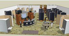 Showroom Design by Lisa Massari, via Behance