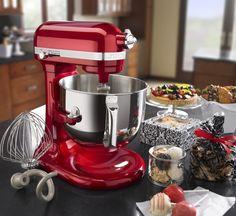 red maroon kitchen aid