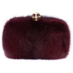 ALEXANDER MCQUEEN skull box clutch ($2,710) ❤ liked on Polyvore