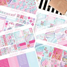 Sweet Treats - Cotton Candy Cupcakes Themed Planner Sticker Weekly Kit // 180+ Stickers // Perfect for Erin Condren Vertical Life Planner