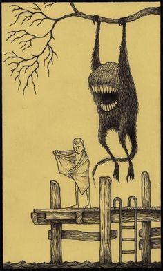 Juxtapoz Magazine-John Kenn's Monster Drawings》 blogspot...Click to enlarge image john381.jpg