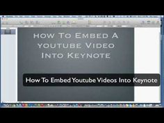Keynote Tutorial - How To Embed YouTube Videos into Keynote - YouTube